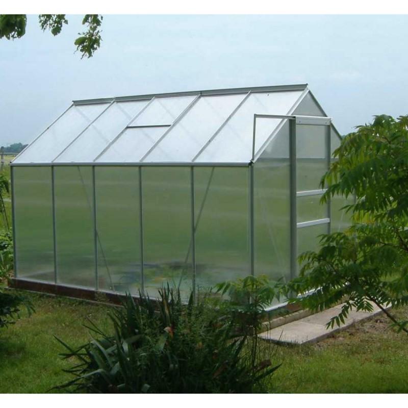 Serre de jardin aluminium polycarbonate 250x190x195cm - Serre aluminium polycarbonate ...