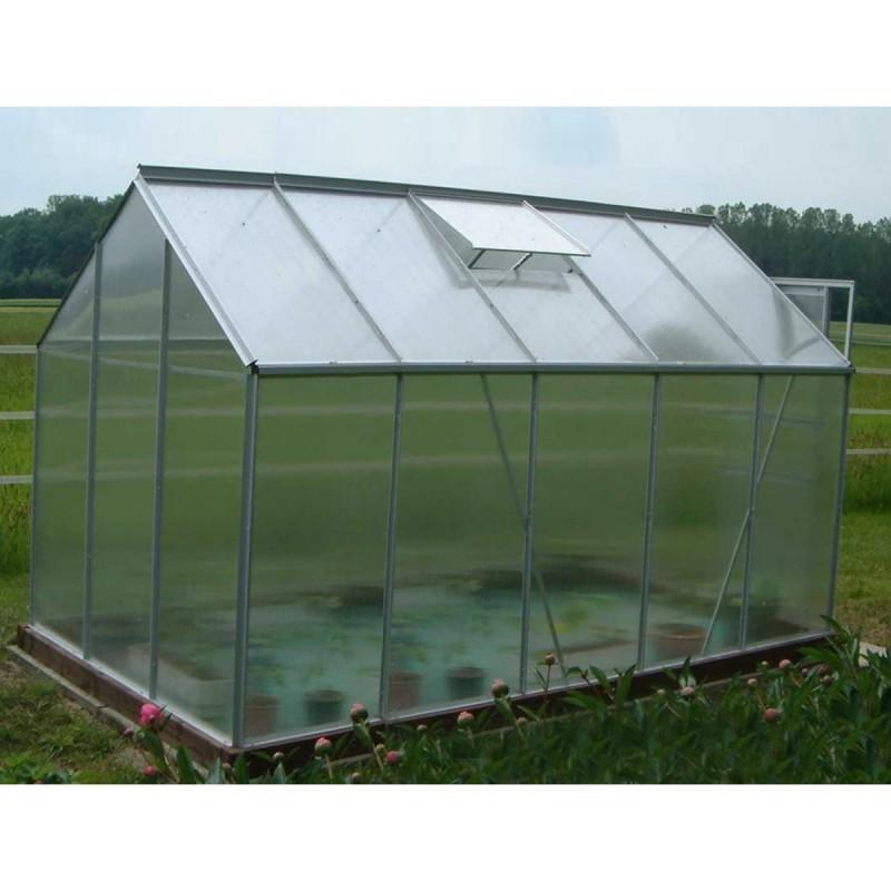 Serre de jardin aluminium polycarbonate 311x190x195cm for Jardin sureleve prix