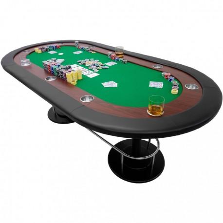 """Table de poker tapis vert """"Full house"""" 208 x 106 x 80 cm"""