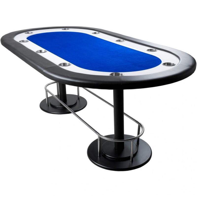 table de poker tapis bleu full house 208 x 106 x 80 cm. Black Bedroom Furniture Sets. Home Design Ideas