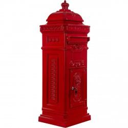 Boite aux lettres colonne pilier en fonte rouge 102,5 cm