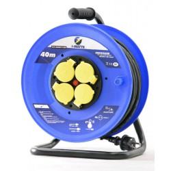 Rallonge électrique 40m H07RN-F avec enrouleur 4 prises