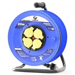 Rallonge électrique 25m H07RN-F 3G 2.5mm² avec enrouleur 4 prises