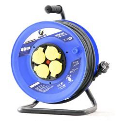 Rallonge électrique 40m H07RN-F 3G 2.5mm² avec enrouleur 4 prises