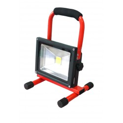 Spot de chantier LED rechargeable 20W sur base