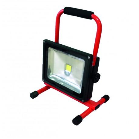 Spot de chantier LED rechargeable 30W sur base