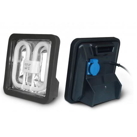 Lampe de chantier professionnel 38W avec prise électrique