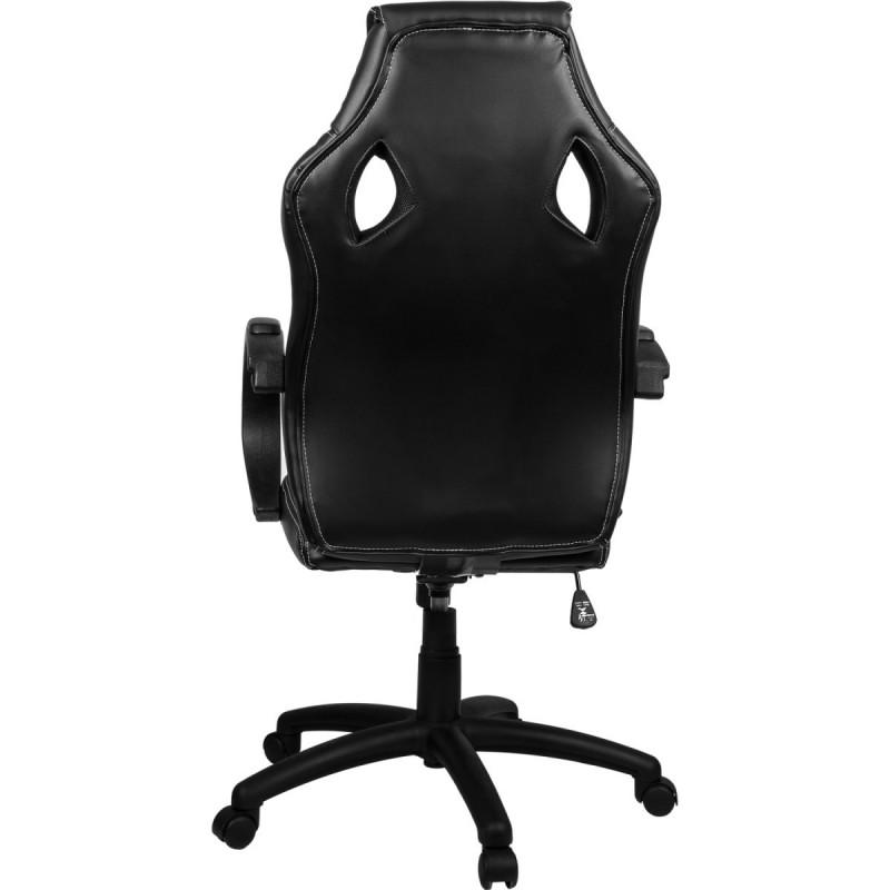 fauteuil de bureau sport racing blanc et noir. Black Bedroom Furniture Sets. Home Design Ideas