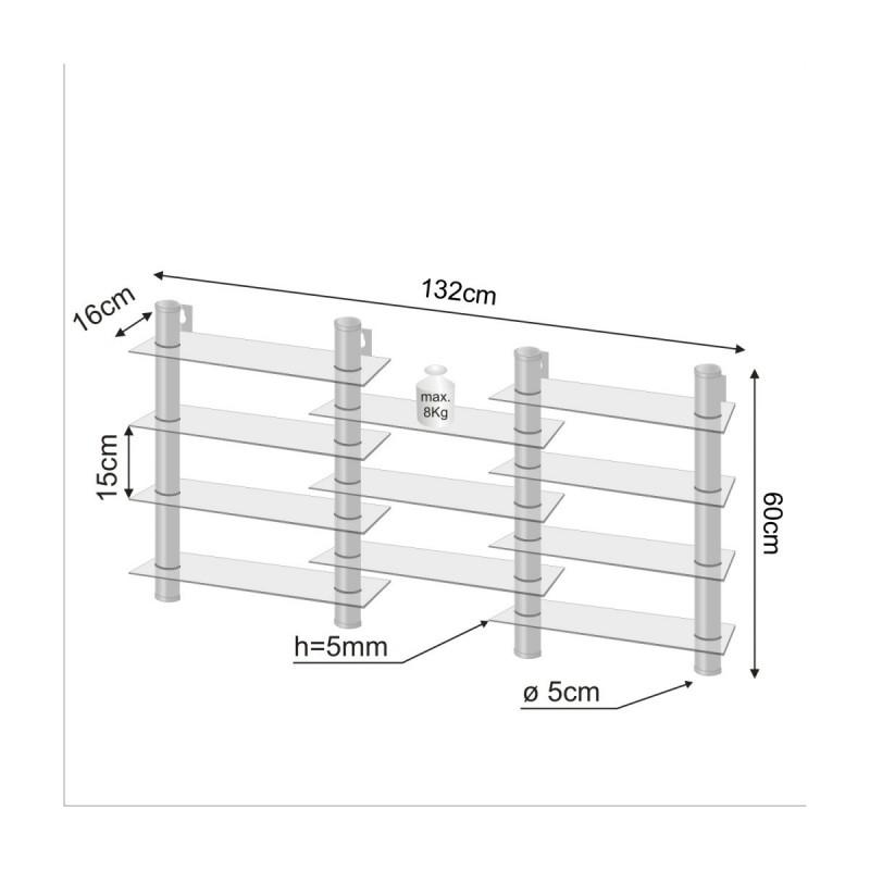 etag re sur pieds cd dvd verre clair. Black Bedroom Furniture Sets. Home Design Ideas