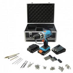 Perceuse rechargeable avec forêts et accessoires - Work Men WMPRT142LI-MC1H