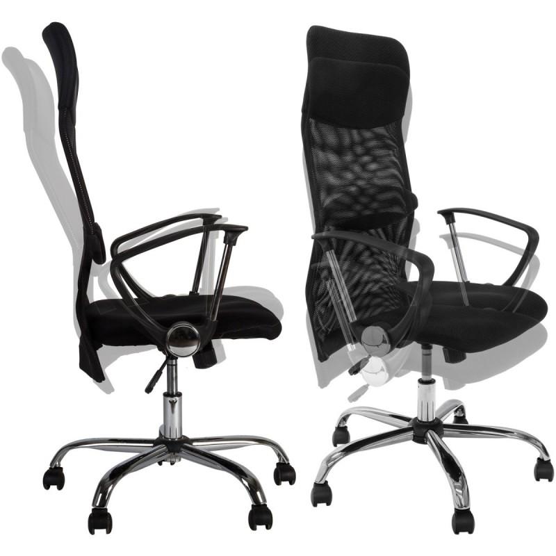 fauteuil de bureau ergonomique noir. Black Bedroom Furniture Sets. Home Design Ideas