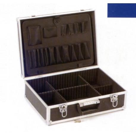 Valise en aluminium 45x33x15cm avec compartiments