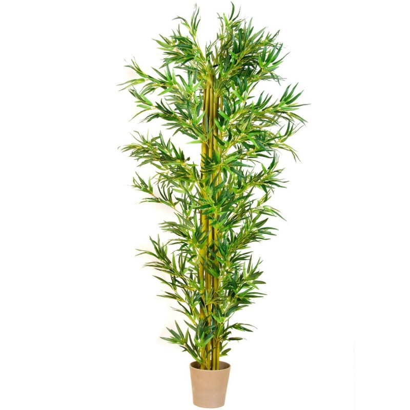Bambou artificiel 220cm int rieur for Plante bambou interieur
