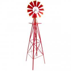 Eolienne décorative style Etats-Unis rouge 245cm