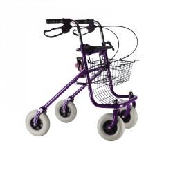 Déambulateur rollator pliable 4 roues avec freins