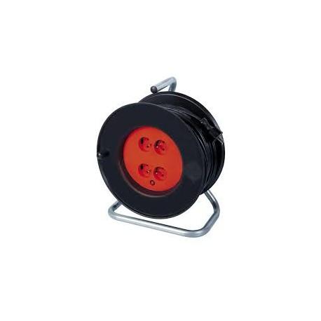 Enrouleur câble électrique 40m avec 4 prises