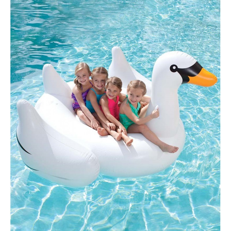 Cygne gonflable g ant pour piscine for Photo piscine gonflable