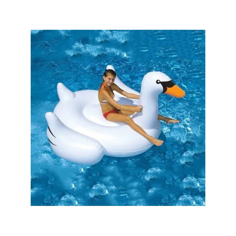 cygne gonflable g ant pour piscine. Black Bedroom Furniture Sets. Home Design Ideas