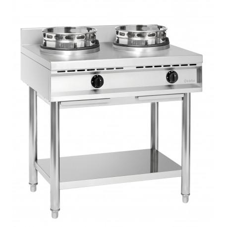 Cuisinière wok à gaz 2 brûleurs – Bartscher