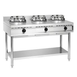 Cuisinière wok à gaz 3 brûleurs – Bartscher