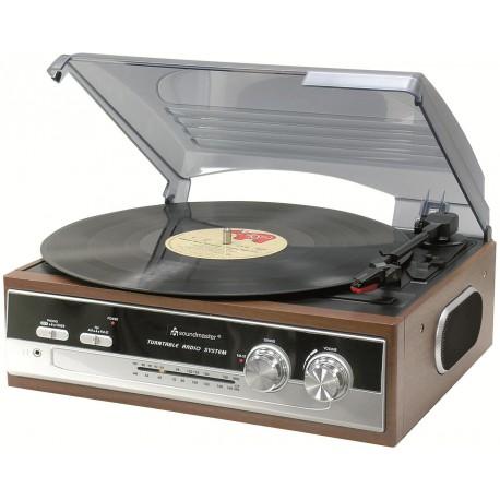 Platine vinyle rétro avec radio AM/FM