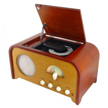 Chaîne hifi rétro avec CD et radio