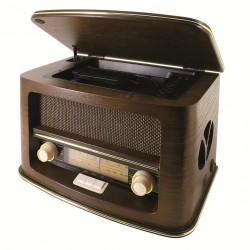 Chaîne hifi rétro avec lecteur CD et radio