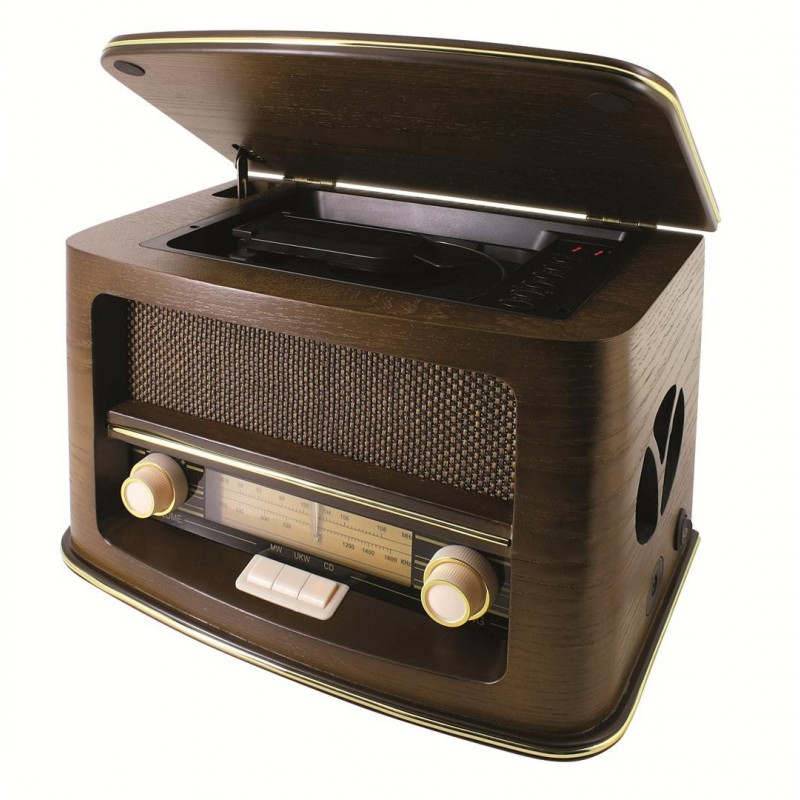 cha ne hifi r tro avec lecteur cd et radio. Black Bedroom Furniture Sets. Home Design Ideas