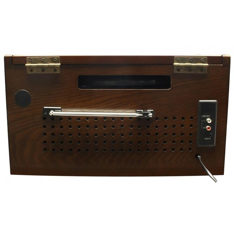 chaine hifi r tro avec platine vinyle encodeur usb radio. Black Bedroom Furniture Sets. Home Design Ideas