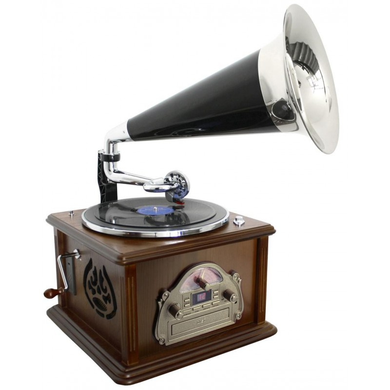 gramophone chaine hifi r tro vinyl cd radio cassette. Black Bedroom Furniture Sets. Home Design Ideas
