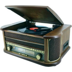 Chaîne hifi rétro encodage USB CD platine vinyle cassette radio