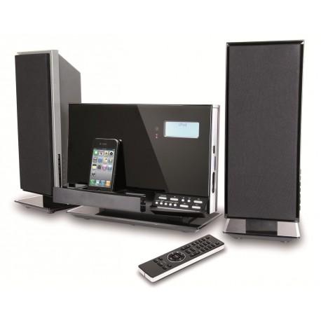Chaine hifi sans fil iPod iPhone, USB/SD, lecteur CD, radio