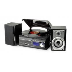 Chaîne hifi encodeur USB avec platine vinyle, CD, radio, lecteur cassettes