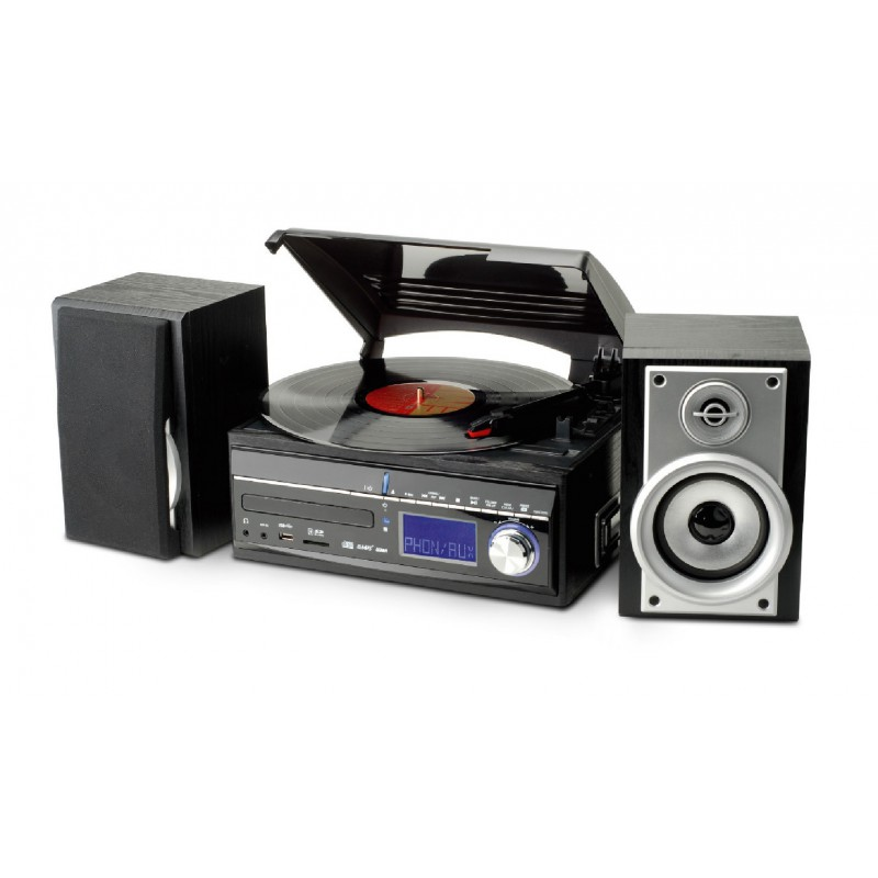 cha ne hifi encodeur usb avec platine vinyle cd radio lecteur cassettes. Black Bedroom Furniture Sets. Home Design Ideas
