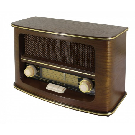 Radio rétro en bois
