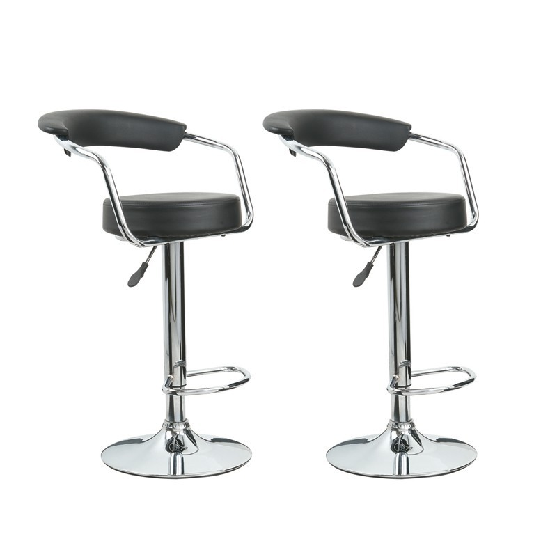 2 tabourets de bar design noir vente tabouret de bar pas. Black Bedroom Furniture Sets. Home Design Ideas