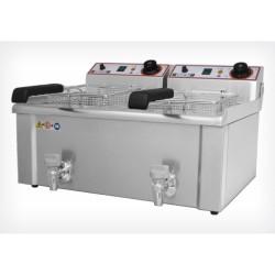 Friteuse double 7L+7L professionnelle électrique - Beckers FBR 7+7 LT