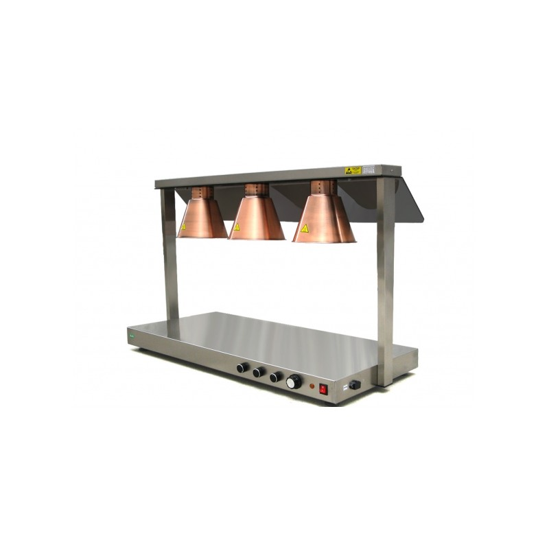 Rampe pont chauffant infrarouge professionnel 3 lampes - Lampe infrarouge cuisine ...