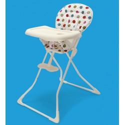 Chaise haute bébé pliable à pois