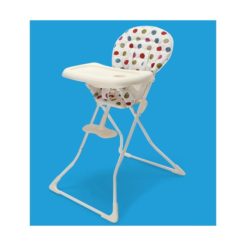 chaise haute b 233 b 233 pliable 224 pois