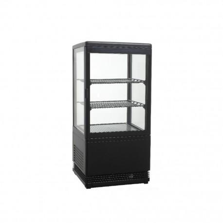Vitrine réfrigérée verticale 80cm noire
