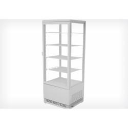 Vitrine réfrigérée verticale 111cm blanche