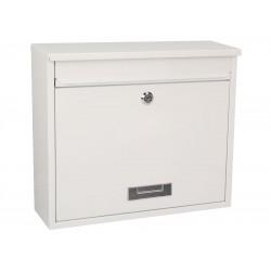 Boîte aux lettres blanche en acier laqué