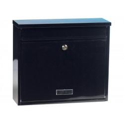 Boîte aux lettres noire en acier