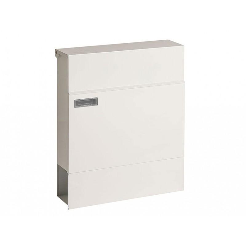 bo te aux lettres murale blanche avec porte journaux. Black Bedroom Furniture Sets. Home Design Ideas