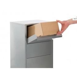 Boîte aux lettres colis sur pied argent