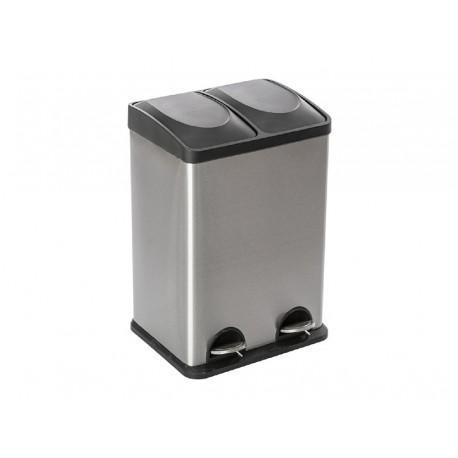 Poubelle 2 compartiments 2x20L