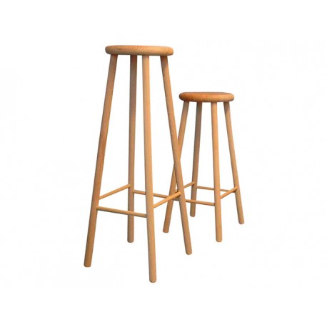 tabouret de bar en bois de h tre 60cm. Black Bedroom Furniture Sets. Home Design Ideas