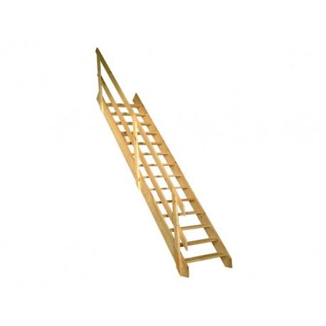 Escalier de meunier 390cm avec rampe