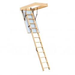 Escalier escamotable isolé pour grenier trappe 140x70cm